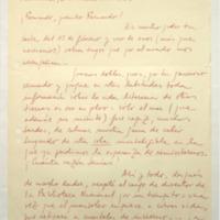 [¡Fernando, querido Fernando! : En nuestro poder tu carta del 12 de febrero]