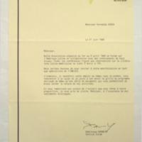 [Monsieur, Notre Association organise du 1er au 9 avril 1989 un Forum sur l'Amérique latine]